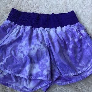 Tie dye Lululemon shorts